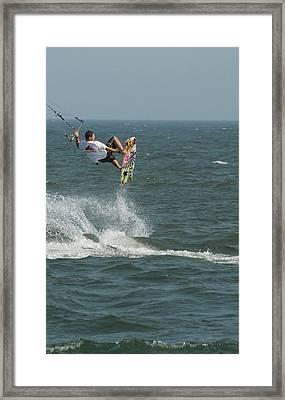 Kite Surfing 8 Framed Print by Joyce StJames