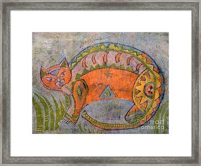 Kitta Framed Print by Caroline Street