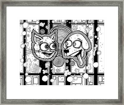 Kitten Puppy Montage Framed Print by Christopher Capozzi