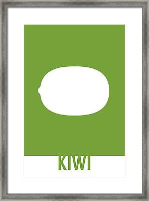 Kiwi Food Art Minimalist Fruit Poster Series 020 Framed Print by Design Turnpike