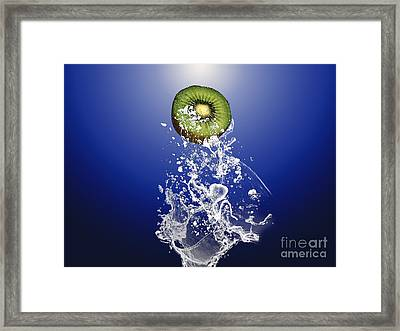 Kiwi Splash Framed Print by Marvin Blaine