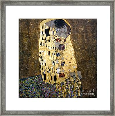 Klimt: The Kiss, 1907-08 Framed Print by Granger
