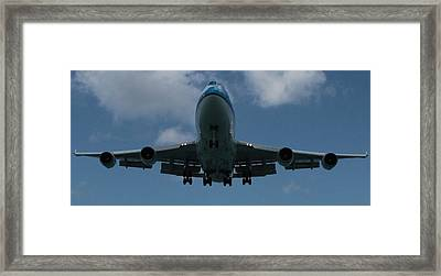 Klm Boeing 747 Framed Print by Christopher Kirby