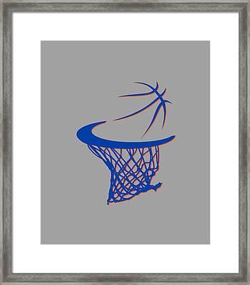 Knicks Basketball Hoop Framed Print by Joe Hamilton