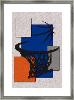 Knicks Hoop Framed Print by Joe Hamilton