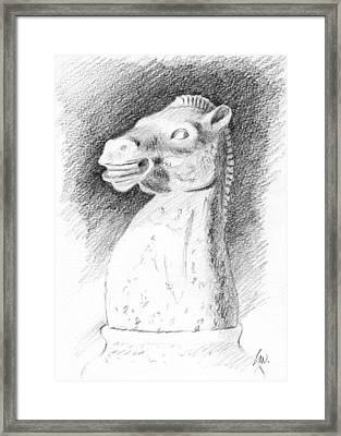 Knight Chess Piece Framed Print by Joe Winkler