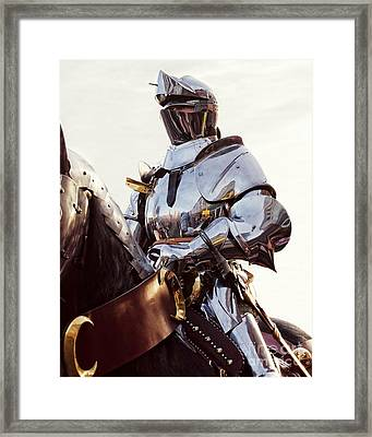Knight In Shining Armour Framed Print by Linsey Williams