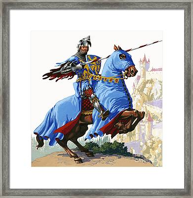 Knight Framed Print by Pat Nicolle