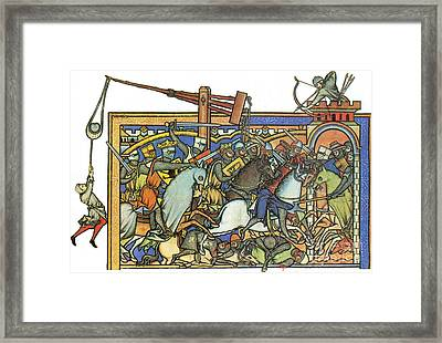 Knights Templar 13th Century Framed Print by Photo Researchers