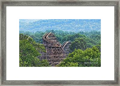 Knobels Wooden Roller Coaster  Framed Print by Paul Ward