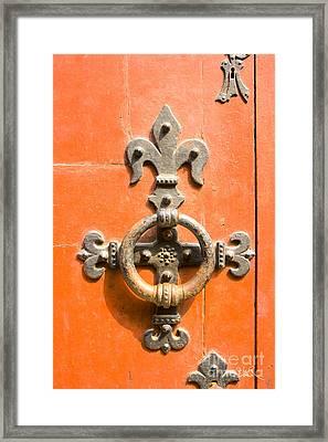 Knock Knock Framed Print by Sophie De Roumanie