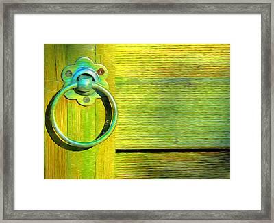 Knock On My Door Framed Print by Georgiana Romanovna