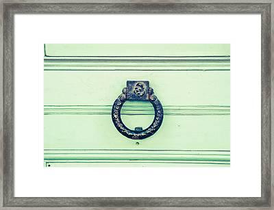Knocker Framed Print by Tom Gowanlock