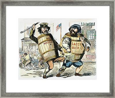 Know-nothing Cartoon Framed Print by Granger