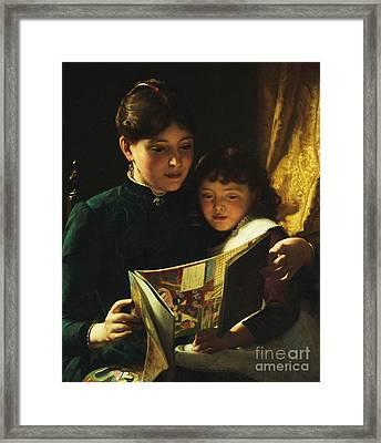 Knowledge Is Power Framed Print by Seymour Joseph Guy