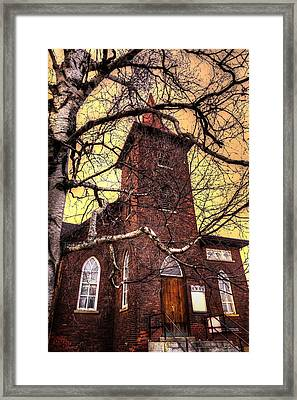 Knox United Church Pruden St View Framed Print by Jakub Sisak