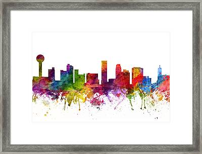 Knoxville Cityscape 06 Framed Print by Aged Pixel