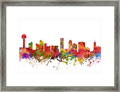 Knoxville Cityscape 08 Framed Print by Aged Pixel