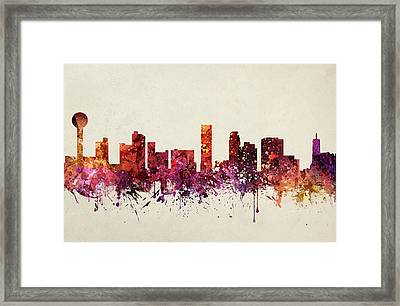 Knoxville Cityscape 09 Framed Print by Aged Pixel