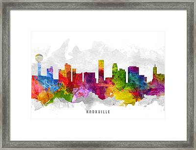 Knoxville Tennessee Cityscape 13 Framed Print by Aged Pixel