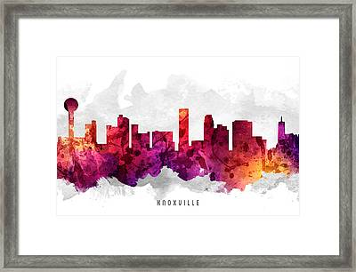 Knoxville Tennessee Cityscape 14 Framed Print by Aged Pixel
