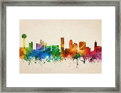 Knoxville Tennessee Skyline 05 Framed Print by Aged Pixel