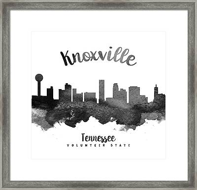 Knoxville Tennessee Skyline 18 Framed Print by Aged Pixel