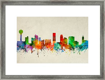 Knoxville Tennessee Skyline 22 Framed Print by Aged Pixel
