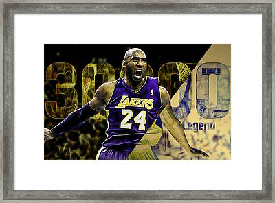 Kobe Bryant Collection Framed Print by Marvin Blaine