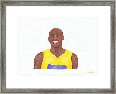 Kobe Bryant Framed Print by Toni Jaso