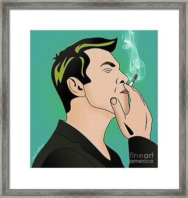Kobi Borisi   Smoking Man  Framed Print by Mark Ashkenazi