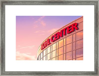 Kohl Center Illuminated Framed Print by Todd Klassy