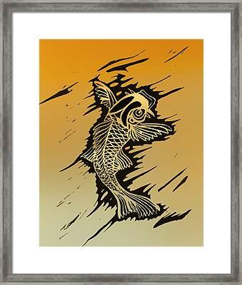 Koi 2 Framed Print by Jeff DOttavio