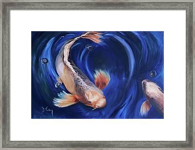 Koi Framed Print by Donna Tuten