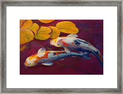 Koi Pond II Framed Print by Marion Rose