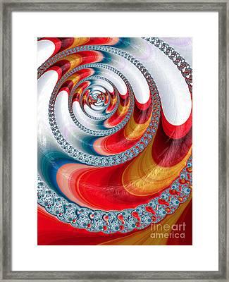 Koi Spiral Framed Print by John Edwards