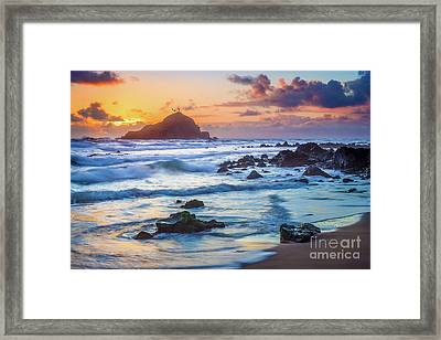 Koki Beach Harmony Framed Print by Inge Johnsson