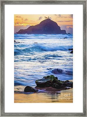 Koki Beach Sunrise #4 Framed Print by Inge Johnsson