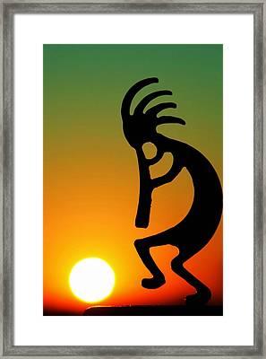 Kokopelli Framed Print by Mitch Cat