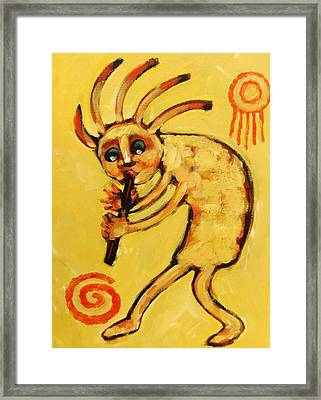 Kokopelli Watches Framed Print by Carol Suzanne Niebuhr