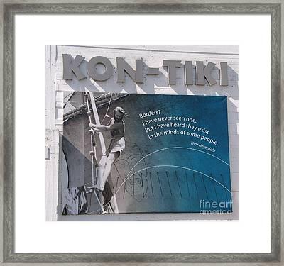 Kon-tiki Framed Print by Alberta Brown Buller