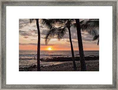 Kona Sunset Framed Print by Brian Harig