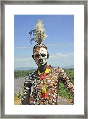 Konso Tribe Man Framed Print by Gilad Flesch