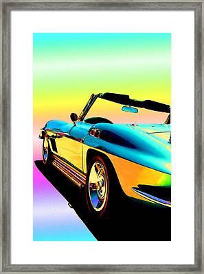 Kool Corvette Framed Print by Lynn Andrews
