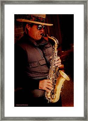 Kool Sax Framed Print by Harvie Brown