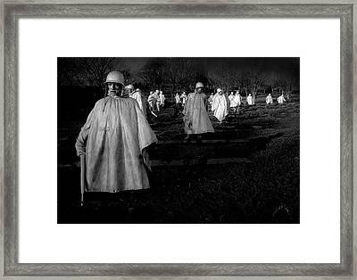 Korean War Memorial Framed Print by Williams-Cairns Photography LLC