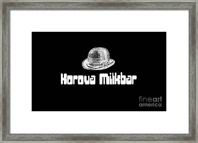 Korova Milkbar A Clockwork Orange Tee Framed Print by Edward Fielding
