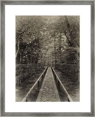 Koto-in Zen Temple Forest Path - Kyoto Japan Framed Print by Daniel Hagerman