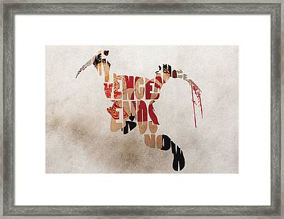 Kratos Fanart From God Of War Framed Print by Ayse Deniz