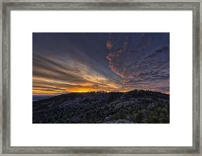 Krell Hill Sunset Framed Print by Mark Kiver